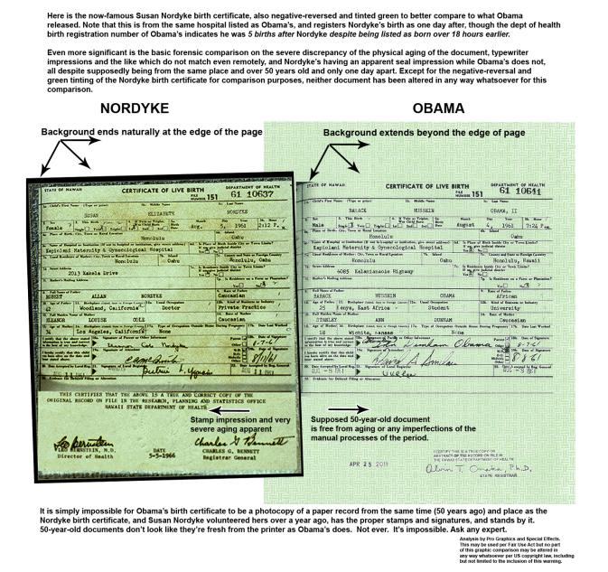 """El certificado de nacimiento de Obama es una """"falsificación ..."""